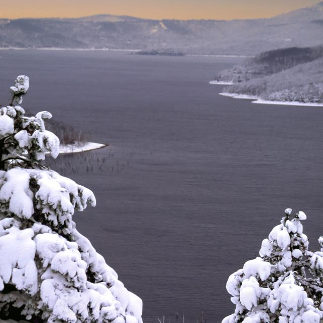 """Ozarks Winter Scene on Table Rock Lake"" stock image"