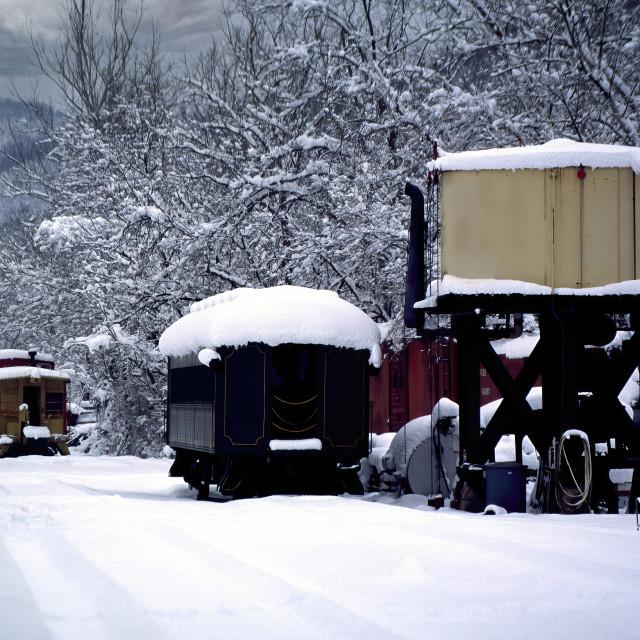 """Railway Station-Winter"" stock image"