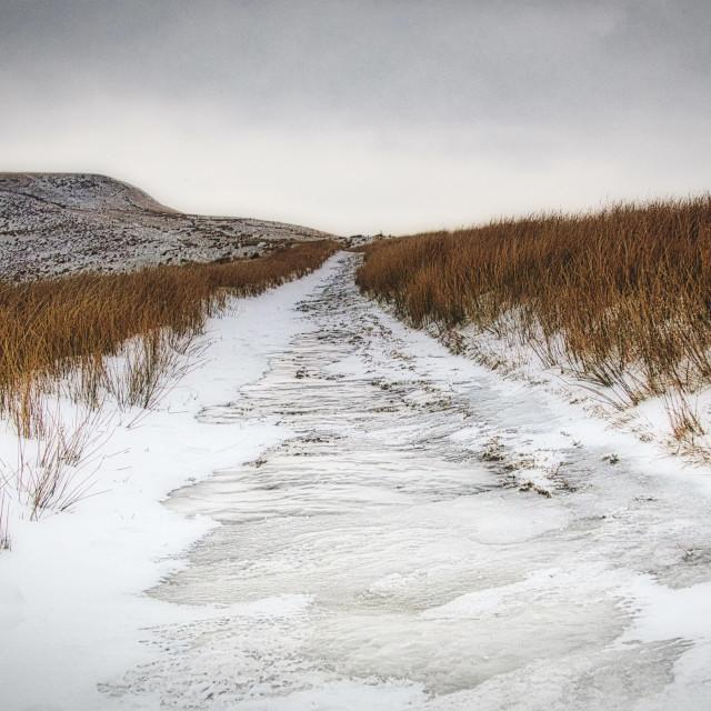 """Snow Road"" stock image"