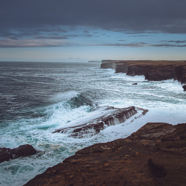 """""""Yesnaby Cliffs"""" stock image"""
