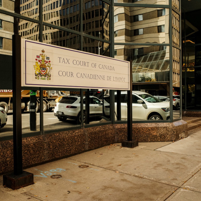 """""""Tax Court of Canada sign in Ottawa"""" stock image"""