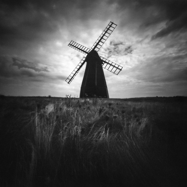 """Rottingdean windmill"" stock image"