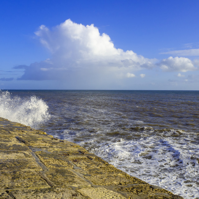 """The Cobb Lyme Regis"" stock image"