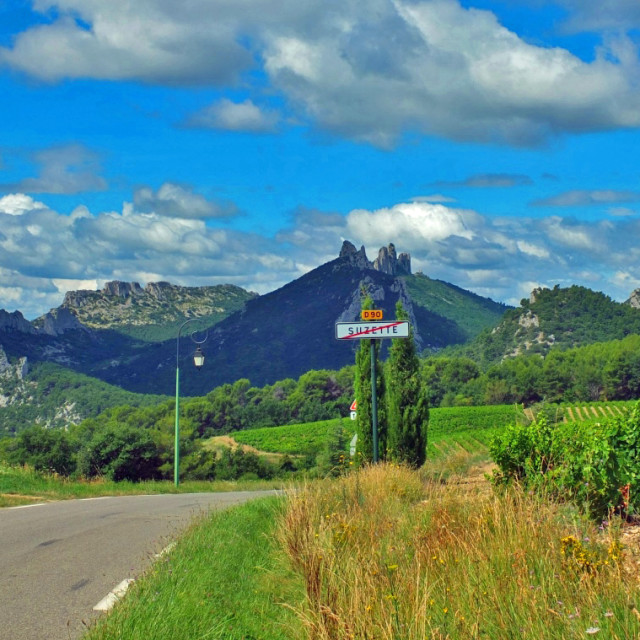 """The village of Suzette Provence"" stock image"