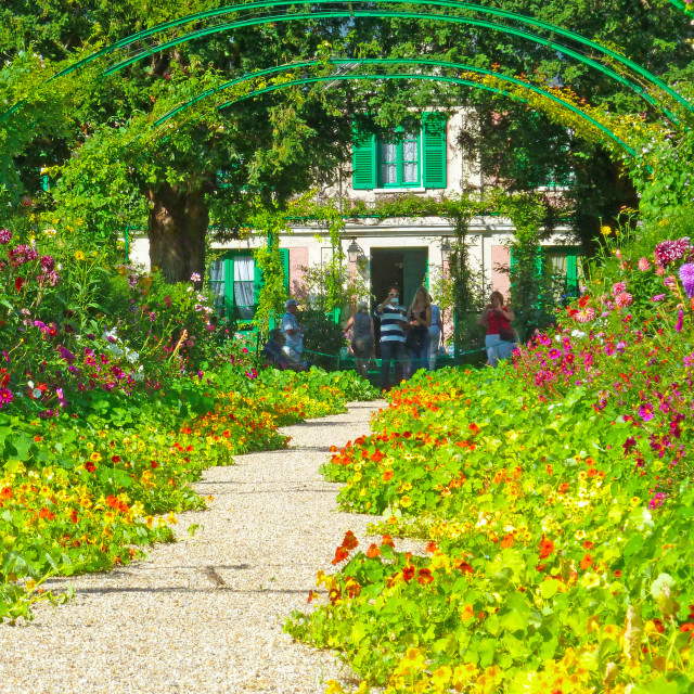 """Monets Garden at Giverny"" stock image"
