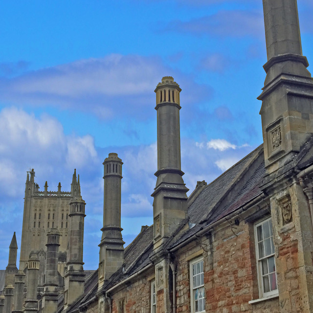 """Vicars Close Wells Somerset"" stock image"