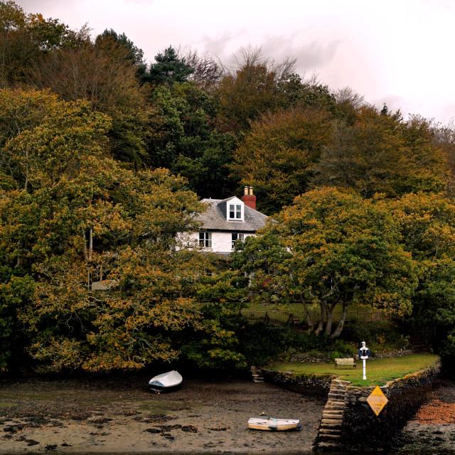 """""""Autumn in Looe."""" stock image"""