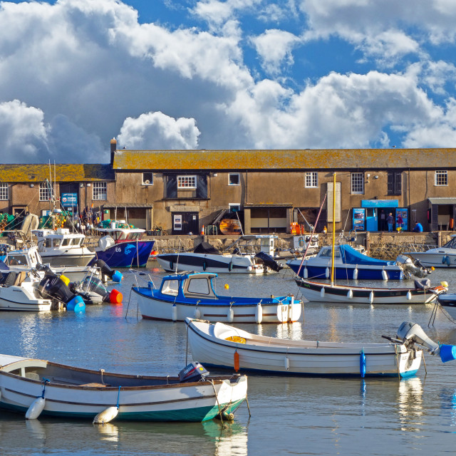 """Harbour at Lyme Regis Dorset"" stock image"