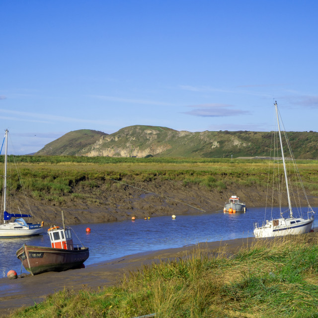 """Axe Estuary Somerset"" stock image"