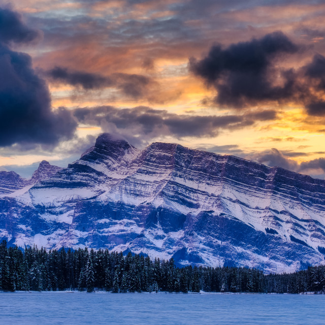 """Rundle Dawn"" stock image"