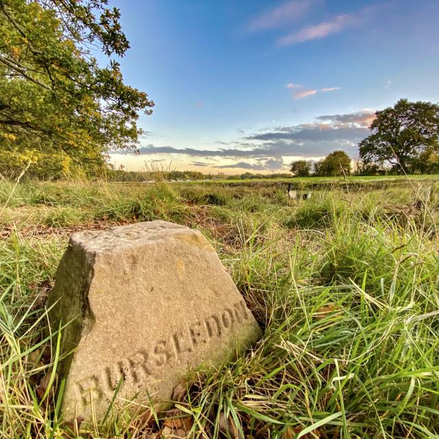 """""""Boundary Stone"""" stock image"""