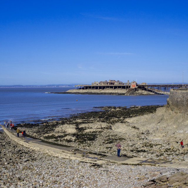 """Madeira Cove Weston Super Mare"" stock image"