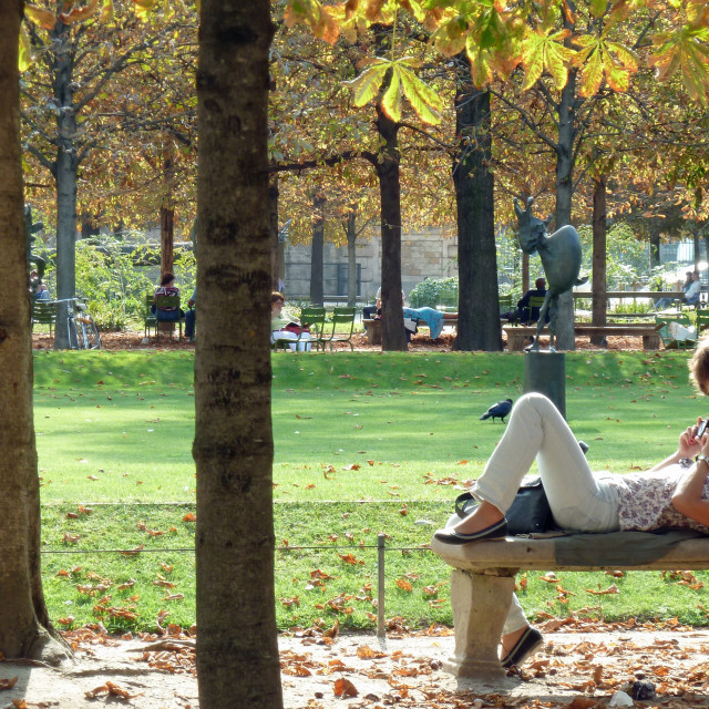 """Jardin des Tuileries Paris France"" stock image"