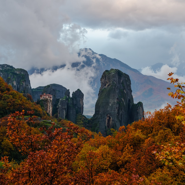 """Autumn in Meteora"" stock image"