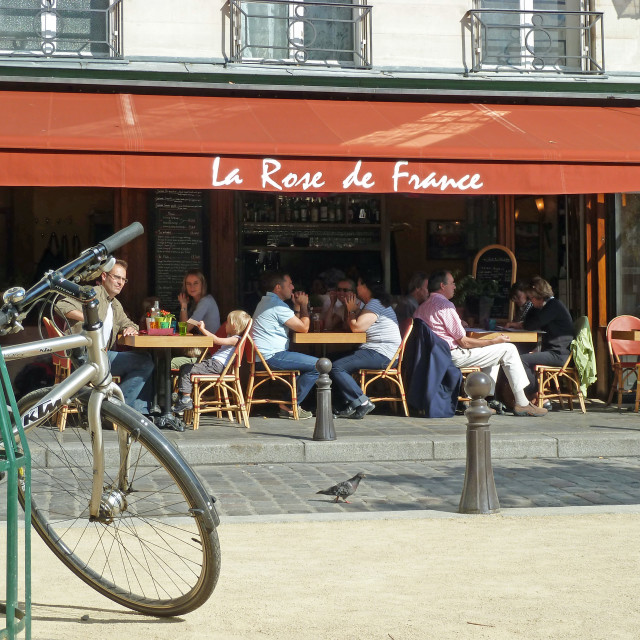 """Place Dauphine Paris Cafe"" stock image"