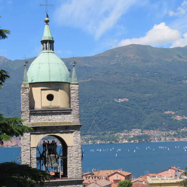 """Lake Como Church"" stock image"