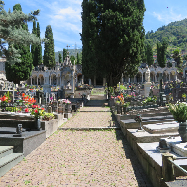 """Cemetery in Italy"" stock image"