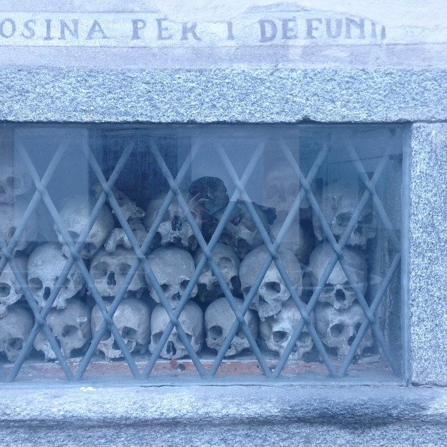 """Bone chapel shrine in Italy"" stock image"