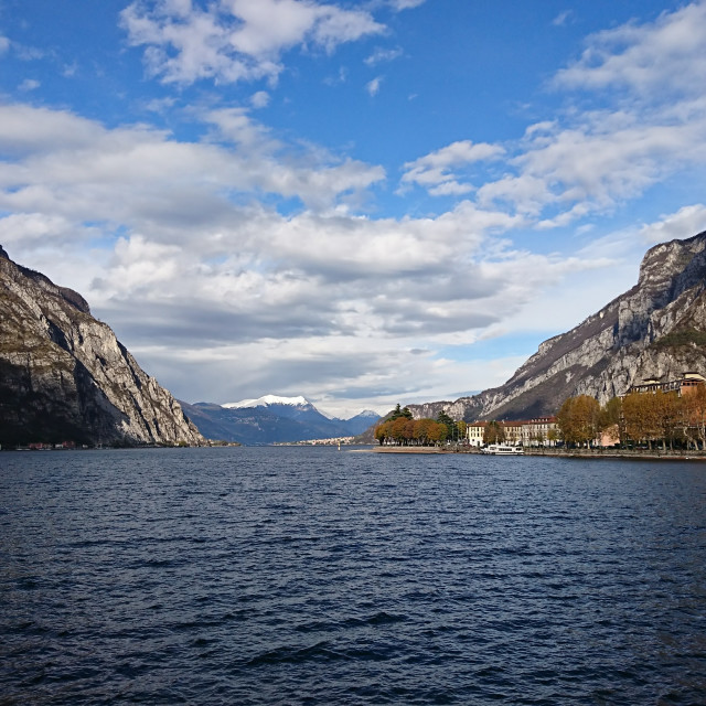 """Mountains and Lake Como"" stock image"