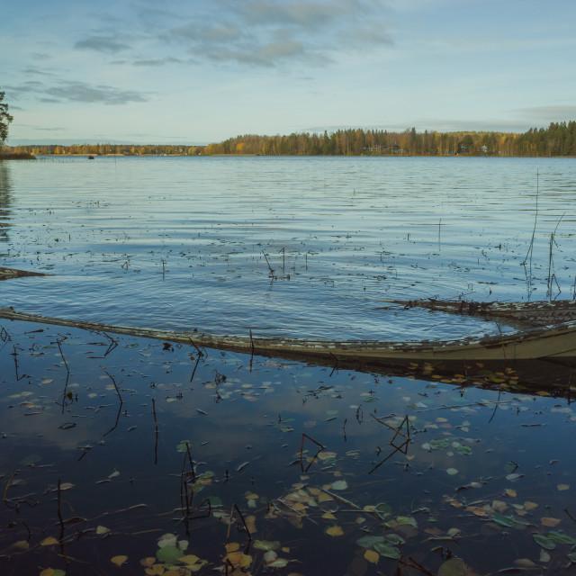 """""""Weathered Rowing Boat I"""" stock image"""