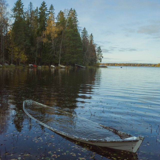 """Weathered Rowing Boat IV"" stock image"