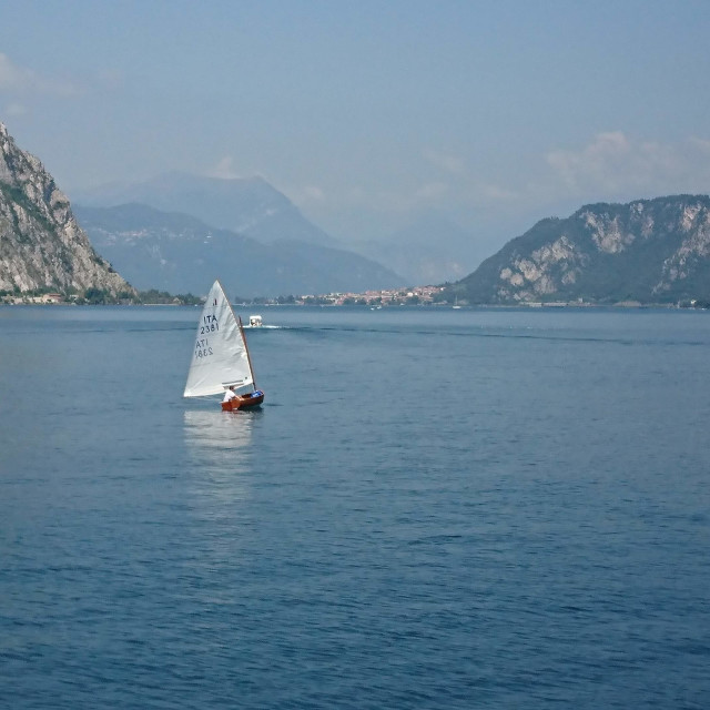 """Sailboat Lake Como"" stock image"