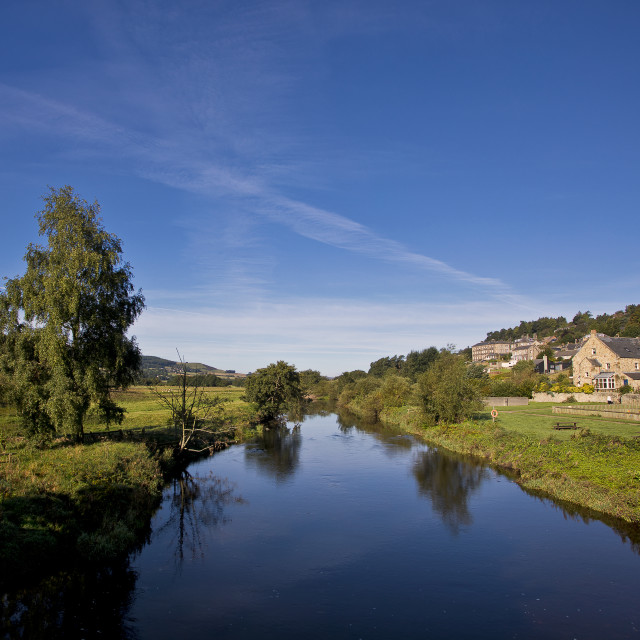 """The River Coquet at Rothbury"" stock image"