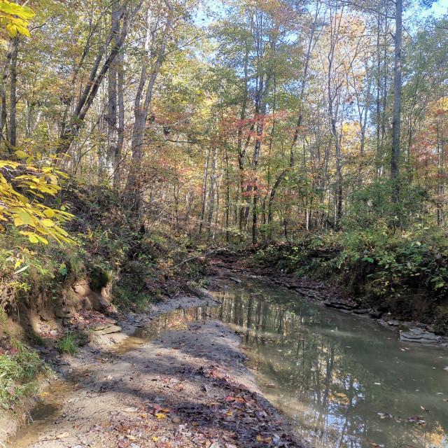 """The Creek at Pilot Knob"" stock image"