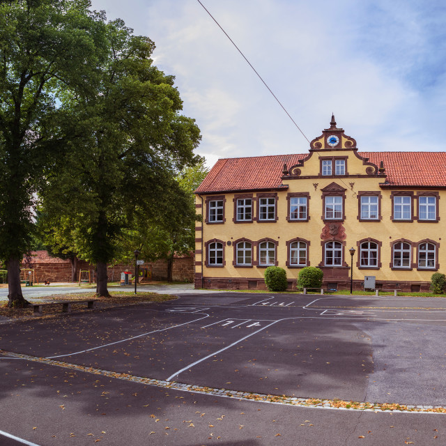 """""""alte Schule of Bad Rodach"""" stock image"""