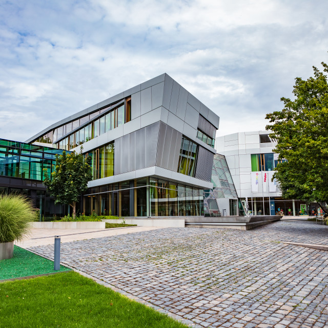 """""""HABA Headquarter building in Bad Rodach"""" stock image"""
