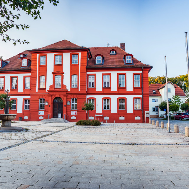 """""""Townscape of Bad Rodach in Bavaria"""" stock image"""