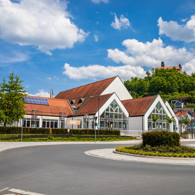 """""""Dr.-Stammberger-Halle alias Stadthalle of Kulmbach"""" stock image"""