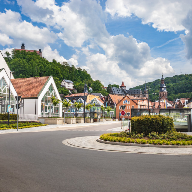 """""""cityscape of Kulmbach town in Bavaria"""" stock image"""