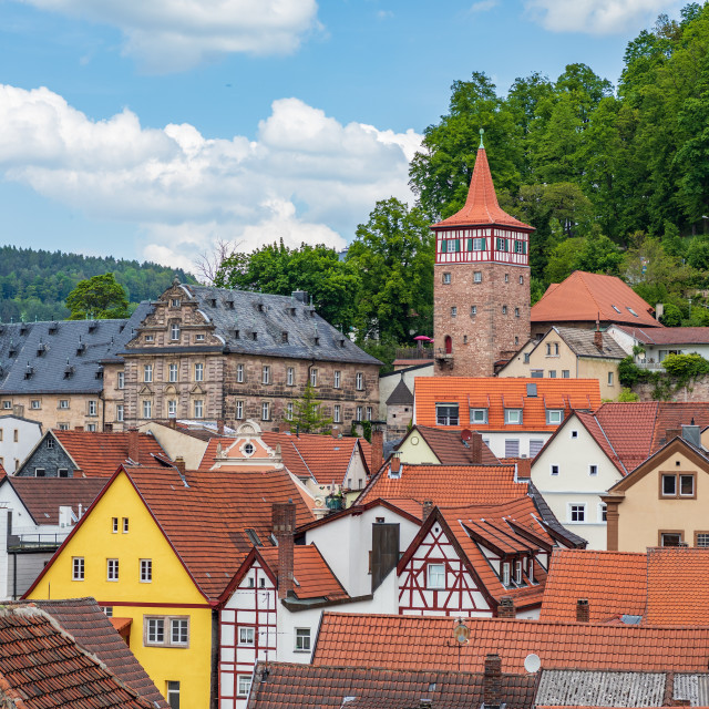 """""""Roter Turm of Kulmbach in Bavaria"""" stock image"""