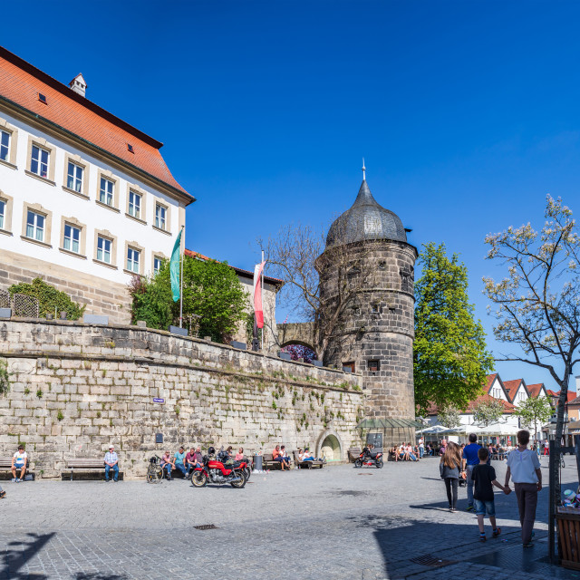 """Rosenturm on Marienplatz of Kronach"" stock image"