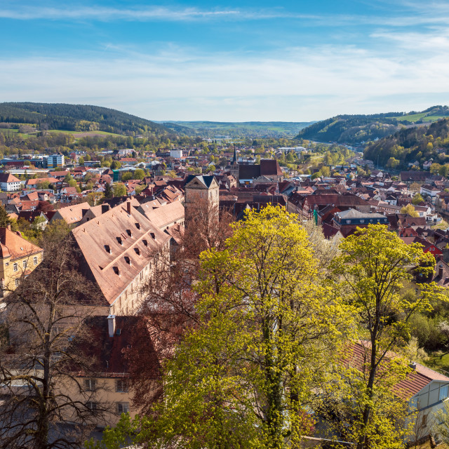 """Townscape of Kronach"" stock image"