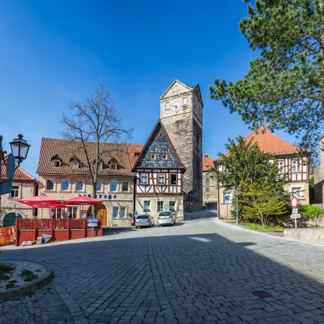 """Martinsplatz in Kronach"" stock image"