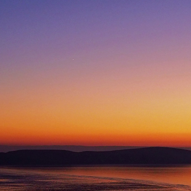 """Winter sunset Brean Down Somerset"" stock image"