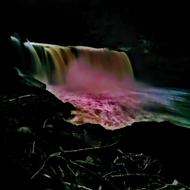 """Cumberland Fall at Night"" stock image"