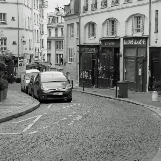 """""""Rue de la Montagne-Sainte-Geneviève Paris France"""" stock image"""