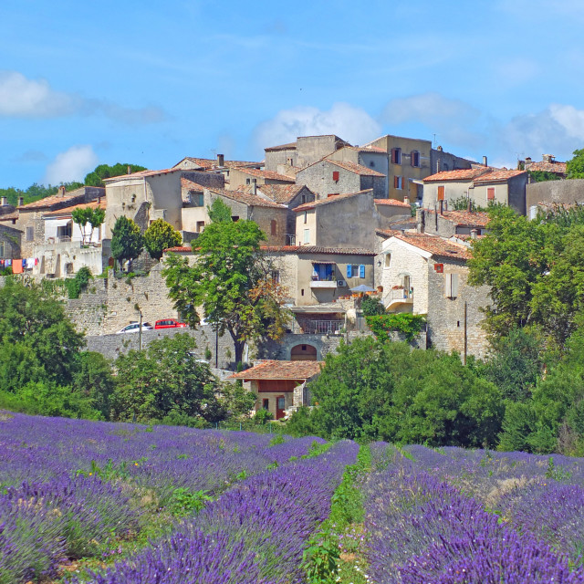 """Cereste village Provence France"" stock image"
