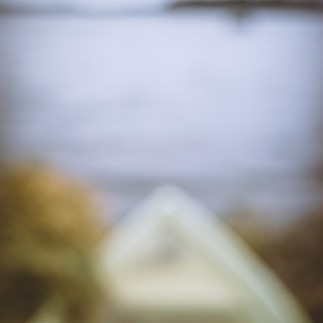 """""""Dreamy View IX (Rowing Boat)"""" stock image"""