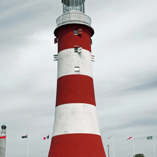 """Smeatons's Tower on Plymouth Hoe Devon"" stock image"