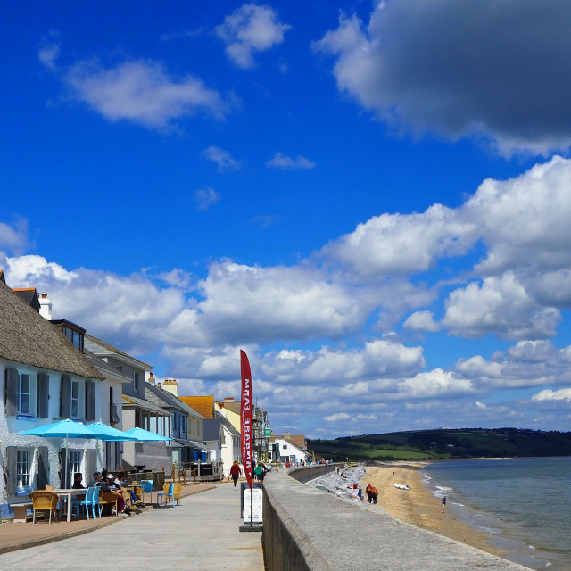 """Torcross village by Slapton Sands Devon"" stock image"