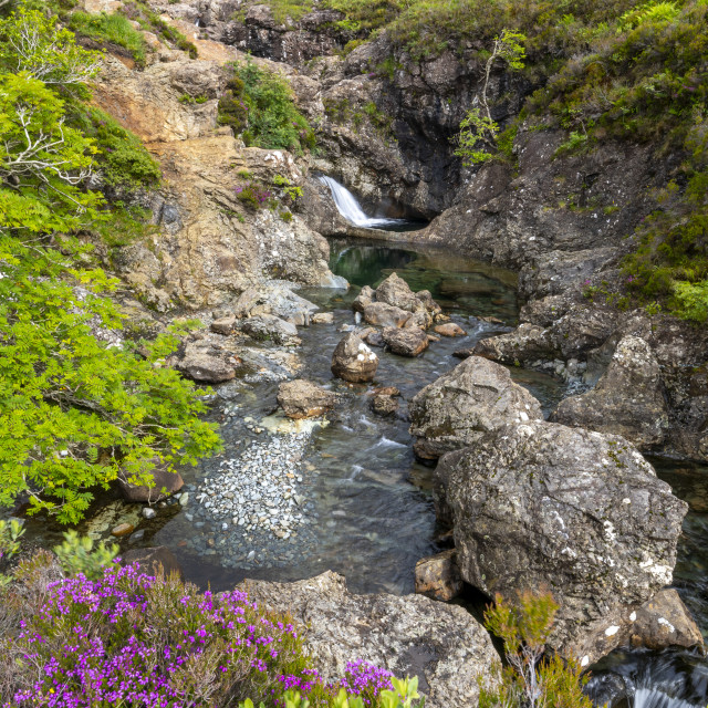 """Waterfall at Fairy Pools, Glen Brittle, Isle of Skye, Inner Hebrides,..."" stock image"
