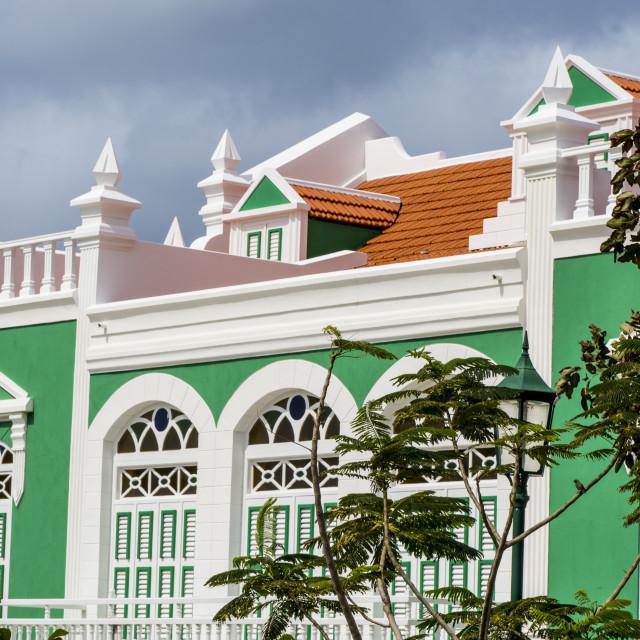 """""""Architecture buildings Oranjestad, Aruba."""" stock image"""