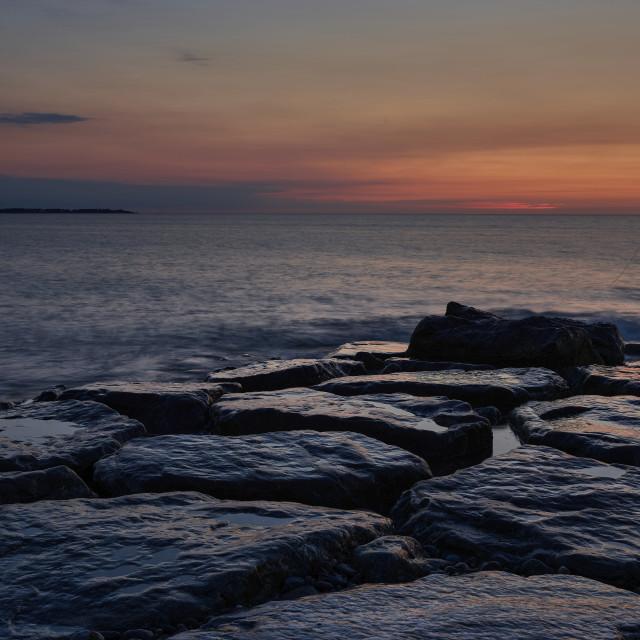 """""""Waiting for Sunrise"""" stock image"""