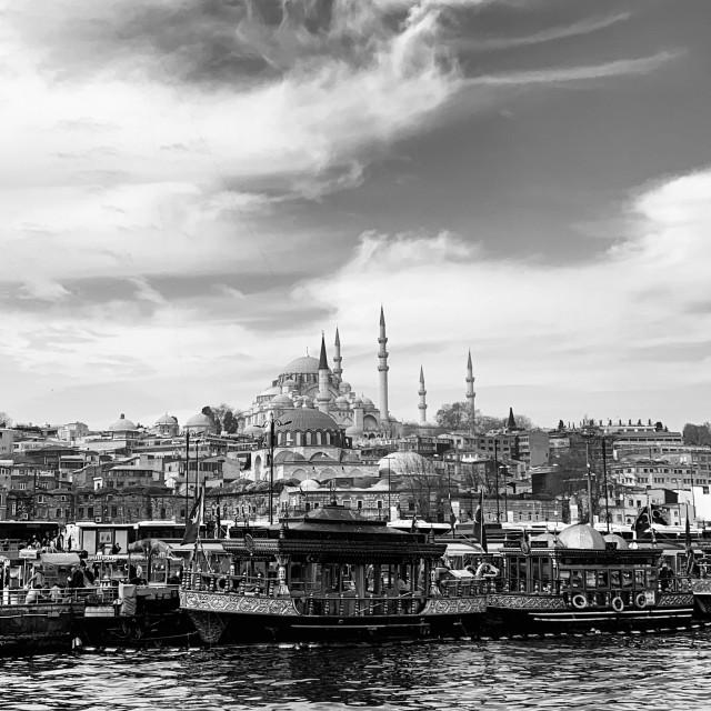 """Istanbul view from Galata bridge"" stock image"