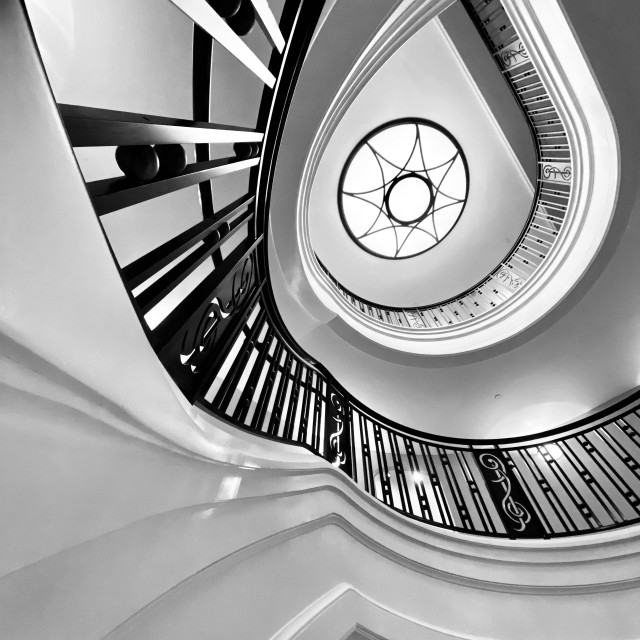 """""""Spiralling staircase"""" stock image"""