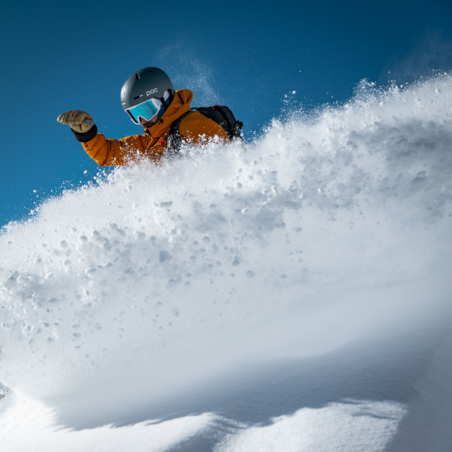 """Powder sessions in Chamonix"" stock image"